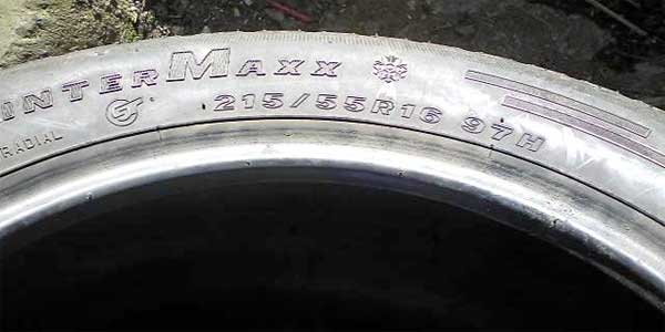 tyre with speed rating H
